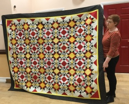 Lesley's completed Allietare Mystery Quilt by Bonnie Hunter