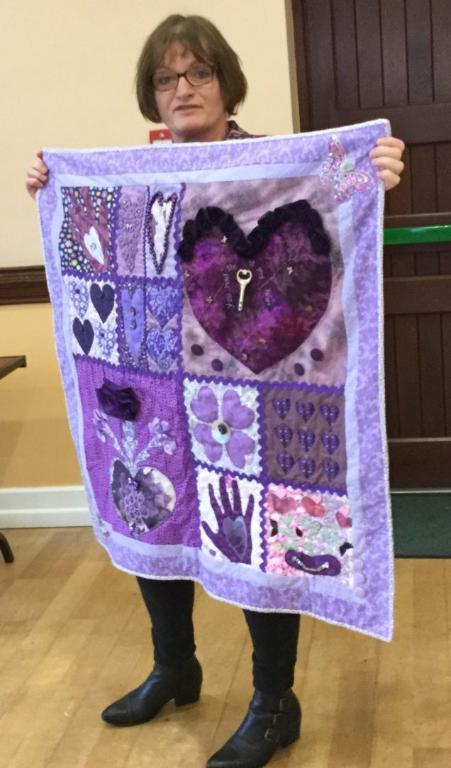Mairead: heart pattern from Moya with additions of jewellery