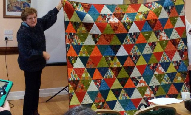 Cora Quinlan made this triangles quilt.