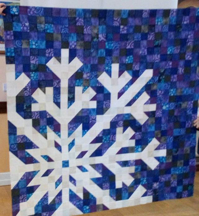 Mary Palmer - top with pieced snowflake, inspired by online snowflake quilts.